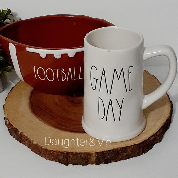 NEaw! Rae Dunn GAME DAY Beer / Coffee  Mug White